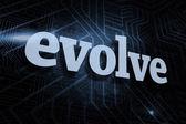 Evolve against futuristic black and blue background — Φωτογραφία Αρχείου