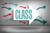 Class - against arrows pointing — Stock Photo
