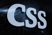 CSS - against futuristic black and blue background — Stock Photo