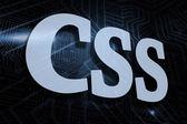 Css - фоне футуристический черный и синий — Стоковое фото