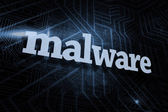 Malware against futuristic black and blue background — Stock Photo