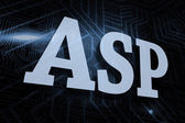 Asp - against futuristic black and blue background — Stock Photo