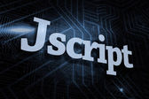 Jscript - фоне футуристический черный и синий — Стоковое фото