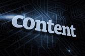 Inhalt vor futuristisch schwarzen und blauen hintergrund — Stockfoto