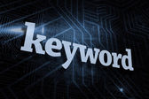 Keyword against futuristic black and blue background — Stock Photo