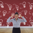 Frustrated businesswoman shouting — Stock Photo