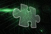 Composite image of jigsaw piece — Stockfoto