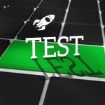 Test against black keyboard — Stock Photo