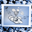 Composite image of hourglass doodle — Stock Photo #44891889