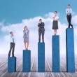 Business people on bar chart — Stock Photo #44893209