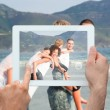 Hand holding tablet pc — Stock Photo #44893593
