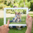 Hand holding tablet pc — Stock Photo #44899251