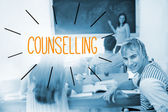 Counselling against students in a classroom — Stock Photo