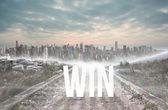 Win against stony path — Stock Photo