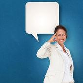 Thinking businesswoman — Stock Photo