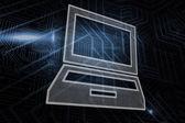 Composite image of laptop — Stockfoto