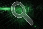 Composite image of magnifying glass — Stockfoto