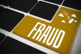Fraud on black keyboard — Stock Photo