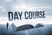 Day course against open book against sky — Stock Photo