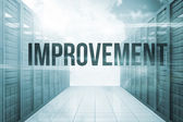 Improvement against server hallway in the blue sky — Stock Photo