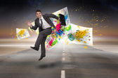 Businessman in a hurry — Stock Photo