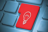 Composite image of idea and innovation graphic on enter key — Stock Photo