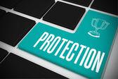 Ochrona na czarny klawiatura — Zdjęcie stockowe