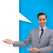 Businessman with speech bubble — Stock Photo #44900557