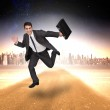 Smiling businessman in a hurry — Stock Photo #44901431