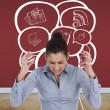 Furious businesswoman gesturing — Stock Photo #44902499