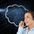 Cloud and call centre worker — Stock Photo #44904049