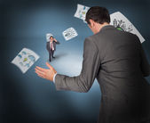 Businessman with tiny businessman — Stock Photo