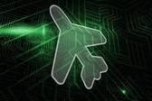 Composite image of airplane — Stockfoto