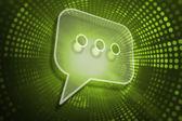 Composite image of speech bubble — Stockfoto