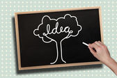 Hand drawing idea tree with chalk — Stock Photo