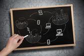 Brainstorm de desenho de mão com giz — Fotografia Stock
