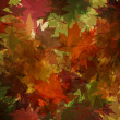 Autumnal leaf pattern in warm tones — Stock Photo #45102409