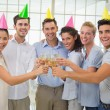 Business team toasting with champagne — Stock Photo #45103507