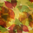 Autumnal leaf pattern in warm tones — Stock Photo #45104799
