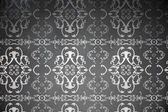 Elegant patterned wallpaper in grey — Stock Photo