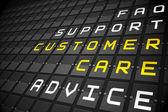 Customer care buzzwords — Stock Photo