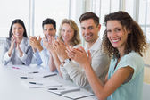 Business team applauding — Stok fotoğraf