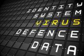 Virus buzzwords — Stock Photo