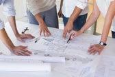 Architecture team working together — Stock Photo