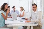 会議中に実業家 — ストック写真