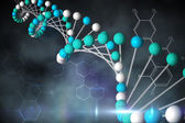 DNA strand with chemical structures — Stock Photo