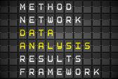 Chavões de análise de dados — Fotografia Stock