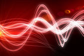 Curved laser light design in red — Stock Photo