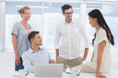 Business team chatting together — Stock Photo