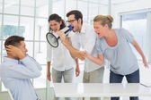 Business team shouting at a colleague — Stock Photo